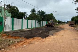 Manutenção nas estradas vicinais de Changrilar e Adrianópolis