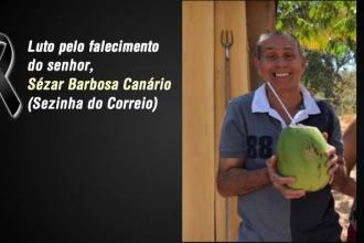 Luto pelo falecimento do Servidor Sézar Barbosa Canário