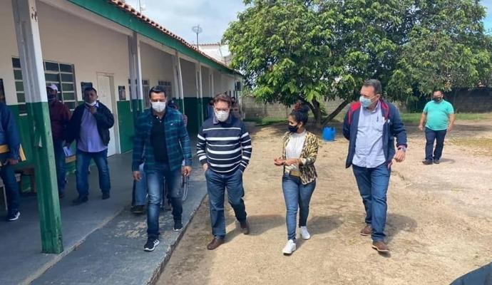 Visita do Deputado Dr. Gimenez ao Município de Vale de São Domingos