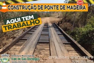 Gestão continua com as reformas de pontes em Vale de São Domingos